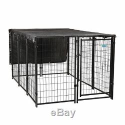Dog Kennel Outdoor Pet Exercise Playpen Fence Cage Heavy Duty Enclosure 5 X 7FT