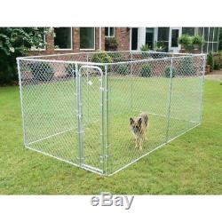 Dog Kennel Pet Box Run Wire Chain Fence Outdoor Cage Door Playpen Exercise Pen