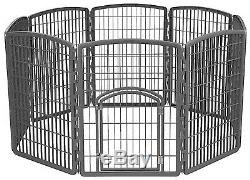 Dog Pet Playpen Crate Puppy Pen Cat Exercise Kennel Fence Cage Portable Folding