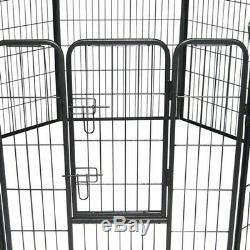 Dog Pet Playpen Heavy Duty Metal Exercise Fence Folding Kennel 8 Panel 40 inch X