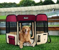 Dog Playpen 45 & 61 Exercise Pen Kennel Crates with Carry Bag Cat Rabbit Puppy
