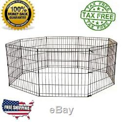 Dog Playpen 48 Inches Big Exercise Pen Extra Large X-Pens with Door Pen Ex-Pens