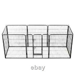 Dog Playpen 8 Panel Metal Pet Puppy Cat Exercise Fence Outdoor Kennel Heavy Duty