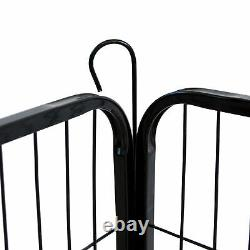 Dog Playpen Crate 8 Panel Fence Pet Play Pen Exercise Puppy Kennel Cage Yard