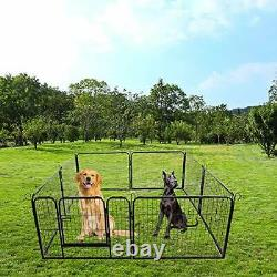 Dog Playpen Heavy Duty Foldable Metal Pet Pens, Dog Exercise Fence Outdoor Indoo