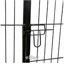 Dog Playpen Large Fence Area Pet Exercise Cage Metal Puppy Cat Rabbits Play Pen