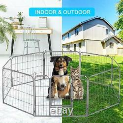 Dog Playpen Large Puppy Pen Folding Exercise Pen Indoor Outdoor Dog Fence