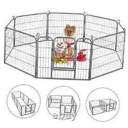Dog Playpen Large Puppy Pen Folding Exercise Pen Indoor Outdoor Dog Fence with