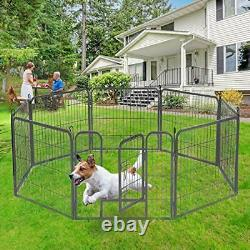 Dog Playpen Large Puppy Pen Folding Exercise Pen Indoor Outdoor Dog Fence with D
