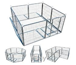 Dog Playpen Pet Exercise Area Cage Metal Puppy Cat Rabbits Play Pen Heavy Duty