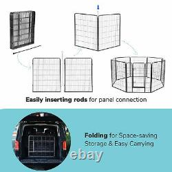 Dog Playpen Pet Outdoor Exercise Fence Camping Kennel Barrier 32 Panel 32x40inch