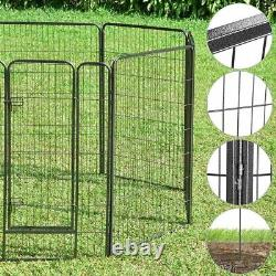 Dog Playpen Pet Pen Exercise Kennel Camping Barrier Fence Cage 48 Panel 32x48