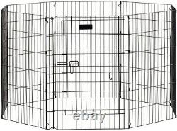 Dog Puppy Pen Ultimate Exercise Square Gate Play Yard 36'' Black Precision Pet