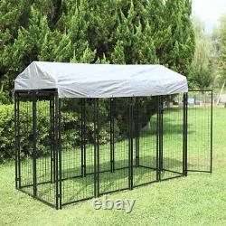 Dog Uptown Welded Wire Kennel Outdoor Pen Exercise Crate Pet Wire Cage with Roof