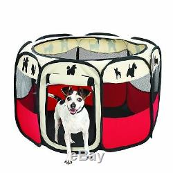 Etna Pet Portable Foldable Play Pen, Indoor/Outdoor, Dog/Cat/Puppy Exercise pen