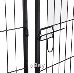 Exercise Metal Play Pen Kennel Barrier 16 Panel Puppy Cage Pet Dog Cat Fence SA