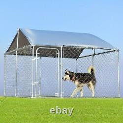 Exercise Pen 7.5x 7.5Ft. Large Pet Dog Run House Outdoor Kennel Cage Fence Shade