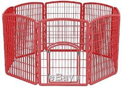Exercise Play Pen Red Large Yard Cage Kennel Indoor Outdoor Fence Dog Pet GIFT