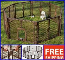 Extra Large Dog Cat Pet Playpen Indoor Outdoor Exercise Play Yard 8 Panels Gate