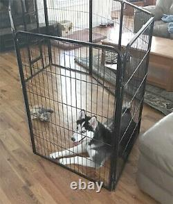 Extra Large Dog Kennel Pen 8 Panel Exercise Playpen 40 Inches Tall with Gate New