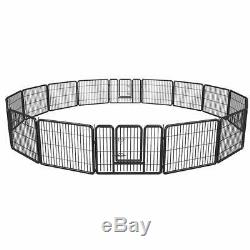 Extra Large Dog Playpen Puppy Rabbit Cat Cage 16 Panels Exercise Fence Pen 24
