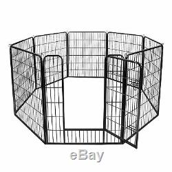 Foldable 8 Panels 39Tall Metal Pet Dog Puppy Cat Exercise Fence Barrier Playpen