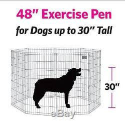 Foldable Metal Exercise Pen Pet Playpen Suitable For Dogs Easy To Setup