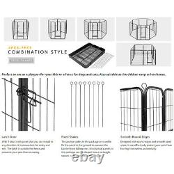 Foldable Metal Indoor Outdoor Exercise Pet Fence Barrier Playpen Kennel Dogs Cat