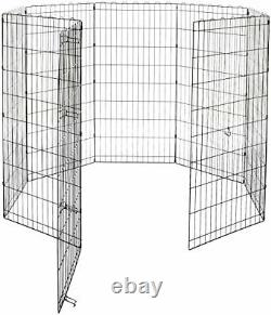 Foldable Metal Pet Dog Exercise Fence Pen 48 Inches (122 cm)