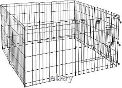Foldable Metal Pet Exercise Playpen Indoor Outdoor Enclosure With Gate For Dog