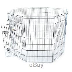 Folding Pet Exercise Kennel Pen, Dog Fence Rabbit Enclosure, Puppy Play Cage