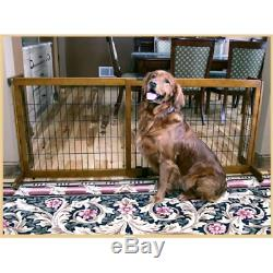 Freestanding 28 in. Tall EXTRA WIDE Pet Gate Animal Dog Fence Exercise Pens New