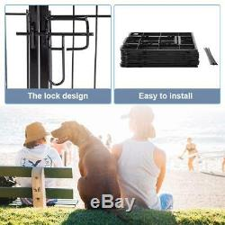 HIGH QUALITY Outdoor Dog Playpen Pet Cage Cat Exercise Fence Puppy 8 Panels 24