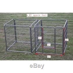 Hammertone Finish Heavy Duty Pet Playpen Dog Exercise Pen Cat Fence S, 40-Inch