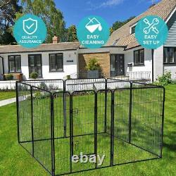 Heavy Duty 40 Metal Cage Crate Large Pet Dog Cat Fence Exercise Playpen 8-Panel
