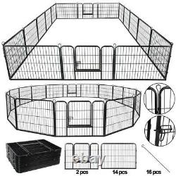 Heavy Duty 8/16 Panel Metal Cage Crate Pet Dog Exercise Fence Playpen Kennel USA