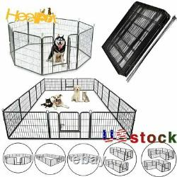 Heavy Duty 8 16 Panels Durable Pet Dog Puppy Cat Exercise Fence Barrier Playpen