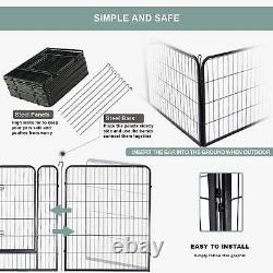 Heavy Duty 8 Panel Metal Cage Crate Pet Dog Exercise Fence Playpen Kennel USA