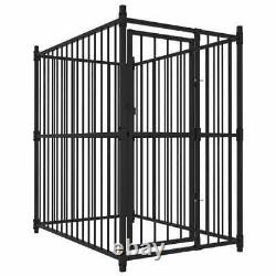 Heavy Duty Dog Kennel Pet Outdoor Fence Metal Exercise Playpen Run House Black