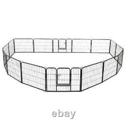Heavy Duty Dog Playpen 16 Panel Metal Cat Exercise Fence Kennel Outdoor Cage XXL