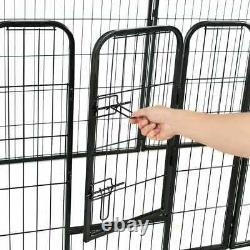 Heavy Duty Dog Playpen 8 Panel Metal Pet Cat Exercise Fence Kennel Outdoor Safe