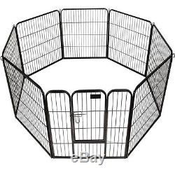 Heavy Duty Dog Playpen Large Portable Exercise Pen Metal Outdoor Enclosure
