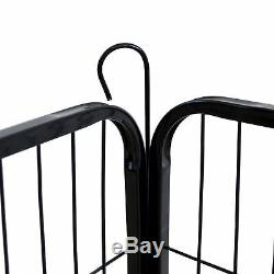 Heavy Duty Metal Cage Crate 8 Panel Pet Dog Exercise Fence Playpen Kennel