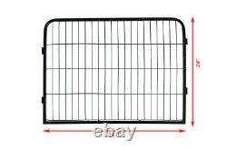 Heavy Duty Metal Dog Cat Exercise Fence Playpen Kennel 16 Panel Safe For Pet