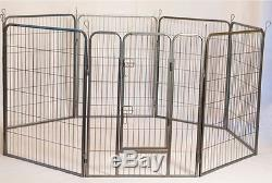 Heavy Duty Metal Tube Pen Pet Dog Exercise and Training PlayPen 32 Height
