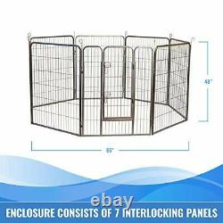 Heavy Duty Metal Tube Pen Pet Dog Exercise and Training Playpen in 48 inch