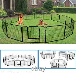Heavy Duty Pet Playpen 16 / 8 Panel Folding Cage Crate Dog Exercise Fence Kennel