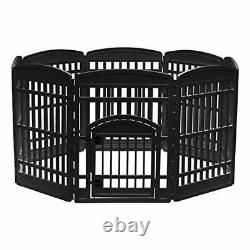 IRIS USA Exercise Pet Playpen and Panels for Dog, Puppy and Black 34 8 Panels