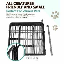 I. Pet 8 Panel Pet Dog Playpen Puppy Exercise Cage Enclosure Fence Play Pen 80x80
