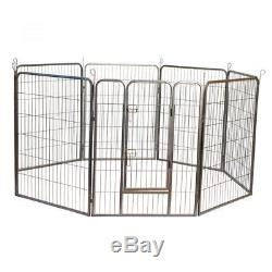 Iconic Pet Heavy Duty Metal Tube Pen Dog Exercise And Training Playpen, 24